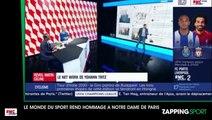 Zap sport du 16 avril : Le monde du sport rend hommage à Notre-Dame de Paris (vidéo)