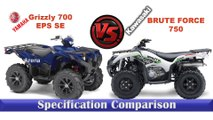 2019 Yamaha Grizzly 700 EPS SE V/S 2019 Kawasaki Brute Force 750.