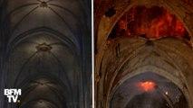 Les terribles images de Notre-Dame avant et après l'incendie