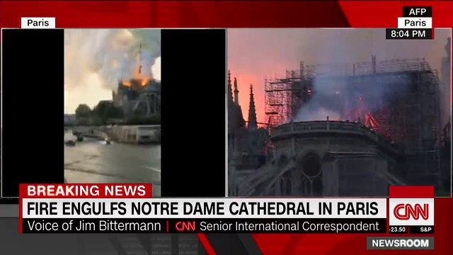 Fire engulfs Notre Dame cathedral in Paris