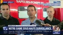 """Porte-parole des pompiers de Paris: """"Il s'agit pour les pompiers de surveiller l'édifice et les points chauds"""""""