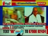 BJP deploys Sadhvi Pragya against Congress' Digvijay Singh for Bhopal Lok Sabha Elections 2019