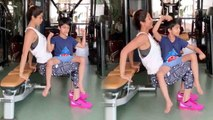 Shilpa Shetty's workout session with son Viaan Raj Kundra going viral; Watch Video | Boldsky