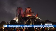 """A la Une : L'émotion dans la Loire après l'incendie de Notre-Dame de Paris / """"J'aurai aimé être sur le feu"""" nous confie un pompiers de paris d'origine stéphanoise / Une artiste entame une grève de la faim / La nouvelle feuille de route de la CCI de Saint-"""