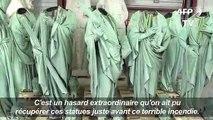 """Incendie de Notre-Dame: en Dordogne, seize statues """"miraculées"""""""