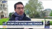 """Un salarié de Notre-Dame présent pendant l'alerte témoigne : """"Nous étions impuissants"""""""