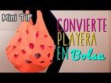 Bolsa de Tela Fácil - Transforma una Playera en Bolsa - Sin Coser - Mini Tip# 59