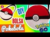 ¡Bolsa de Cartón y Tela de Pokebola!   DIY Bolsa Sin Coser ✄   Manualidades Pokemon   Catwalk ❤