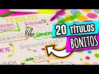 20 IDEAS PARA DECORAR TUS APUNTES | TÍTULOS BONITOS ❤ ✏️IDEAS PASO A PASO ¡REGRESO A CLASES!-Catwalk