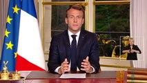 """Emmanuel Macron: """"Nous avons vu cette nuit cette capacité de nous unir pour vaincre"""" - """"Je reviendrai vers vous dans les prochains jours mais le moment n'est pas venu"""" - """"Nous rebâtirons la cathédrale plus belle d'ici 5 ans"""" - VIDEO"""