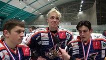 Hockey sur glace interviews de la relève des Sangliers Arvernes 2019-04-13