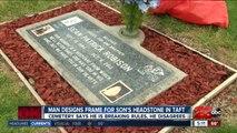 Cemetery asks man to remove personalized design around son's grave