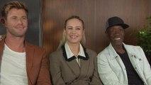 'Avengers: Endgame': Chris Hemsworth, Brie Larson and Don Cheadle (FULL INTERVIEW)