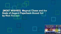 [MOST WISHED]  Magnus Chase and the Gods of Asgard Paperback Boxed Set by Rick Riordan