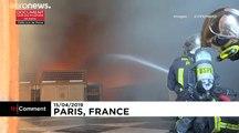 Les sapeurs-pompiers de Paris à pied d'œuvre à l'intérieur de Notre-Dame