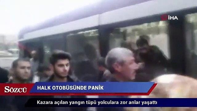 Halk otobüsünde panik