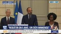 """Pour Édouard Philippe, reconstruire Notre-Dame de Paris sera """"le chantier de notre génération"""""""