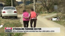 Most Korean farmers recorded less than US$ 8,800 in 2018