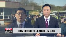 Gyeongsangnam-do Province governor released on bail after detained for 77 days