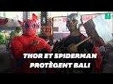 Thor et Spiderman sont là pour les élections présidentielles en Indonésie