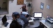 Vídeo mostra policiais salvando bebê que engasgou com leite materno em Marília