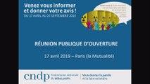 Débat public PNGMDR ouverture Paris 17 avril 2019