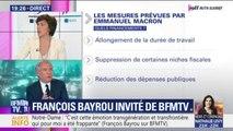 """Retraites: François Bayrou défend les avantages d'un système """"à la carte"""""""