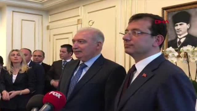 İstanbul- Mevlüt Uysal Görevi Ekrem İmamoğlu'na Devretti