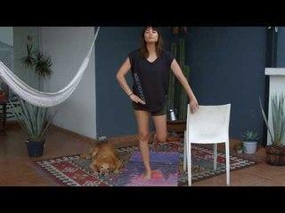 Rutina para adultos mayores o rehabilitación de piernas