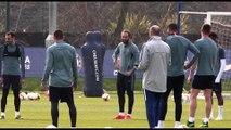 Chelsea training pre Slavia Prague