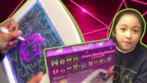 NEON GLOW DOODLE BOARD | GLOW IN THE DARK DRAWING BOARD | GLOWING ART BOARD