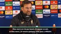 """Demies - Klopp : """"Dieu merci, je ne dois pas penser à Messi ce soir"""""""