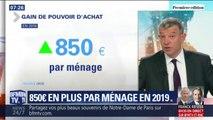 850€ en plus par ménage en 2019, la plus forte hausse du pouvoir d'achat depuis 2012