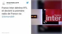 France Inter devient la première radio de France, devant RTL