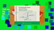 Full version  Examples   Explanations for Criminal Law  Best Sellers Rank : #5