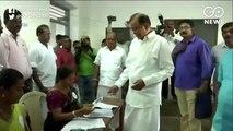 Congress leader P Chidambaram casts his vote