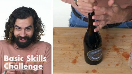 50 People Try to Open a Bottle of Wine