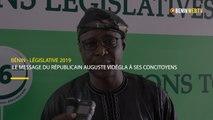 Bénin - Législative 2019: le message du républicain Auguste Vidégla à ses concitoyens