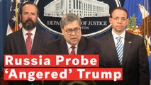 Barr: President Trump Was 'Frustrated And Angered' By Mueller Russia Investigation