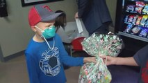 Boy Brightens Easter For Young Cancer Patients