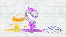 Crayon Amusant Obtient Un Énorme Paquet! en bord DANS LA BOÎTE - Animation Dessins animés