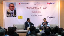 RAJAT GUPTA ON HIS MEMOIR 'MIND WITHOUT FEAR'