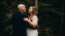 Bride swaps engagement photoshoot to take photos with dying dad