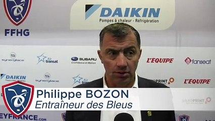 Prepa Mondial. France-Lettonie (2-3tab), réaction de Philippe Bozon
