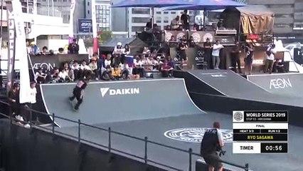 Ryo Sagawa | 1st place - Skateboard Street Final | FISE Hiroshima 2019