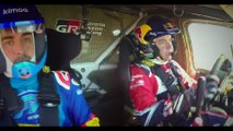 Fernando Alonso tests Toyota Hilux V8 4x4 Dakar for Toyota Gazoo Racing