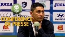 Conférence de presse Havre AC - Paris FC (2-1) : Oswald TANCHOT (HAC) - Mecha BAZDAREVIC (PFC) - 2018/2019