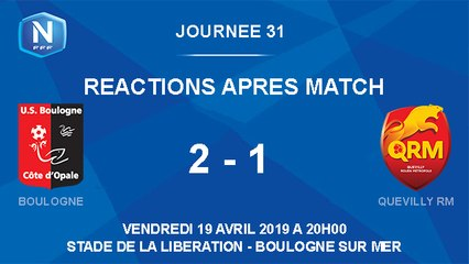 [NATIONAL] J31 Réactions après match USBCO - Quevilly RM