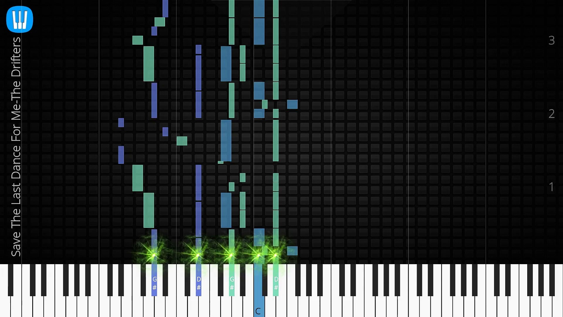 [Piano Solo]Save The Last Dance For Me, The Drifters-Synthesia Piano Tutorial
