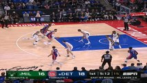 Milwaukee Bucks at Detroit Pistons Recap Raw